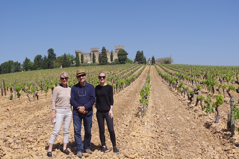 Chateauneuf du Pape in the vineyards