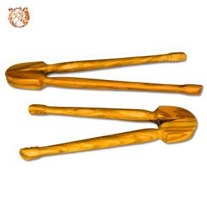 Pince à cornichons en bois d'olivier