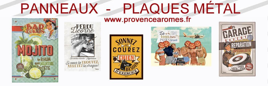plaques metal provence aromes