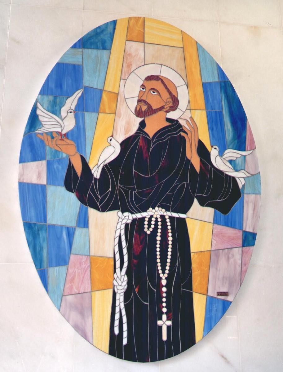 San Francesco dAssisi  Mosaici e Vetri dArte Provenzano