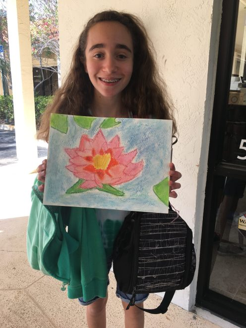 Lily and her awesome art project!