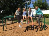 Girls hanging out at recess!