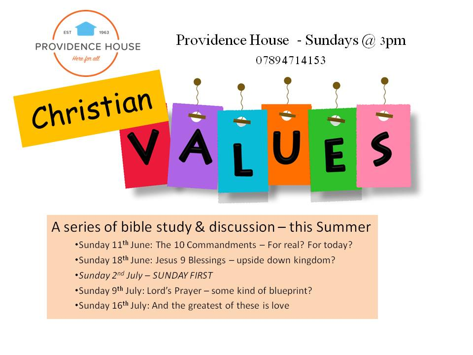 Christian values a series of studies discussion providence house malvernweather Choice Image