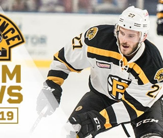 Newcomer Carey Nets Late Game Winner For P Bruins Providence Bruins