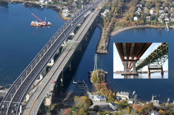 Peregrine Falcons on old Sakonnet River Bridge