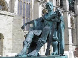 Constantine sitting down