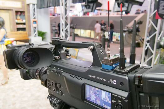 """The HC900 is a standard, 2/3"""" HD camcorder with a B4 lens... and streaming, of course"""