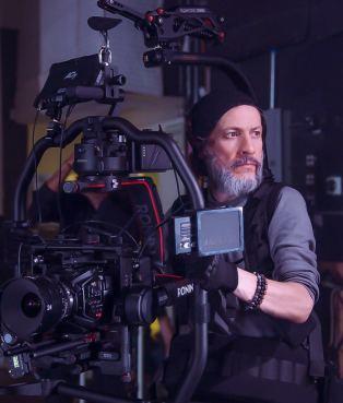 Mauricio operating a camera rig