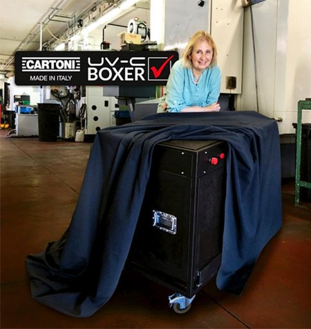 Cartoni UV-C Boxer: sanitize your gear in 5 minutes