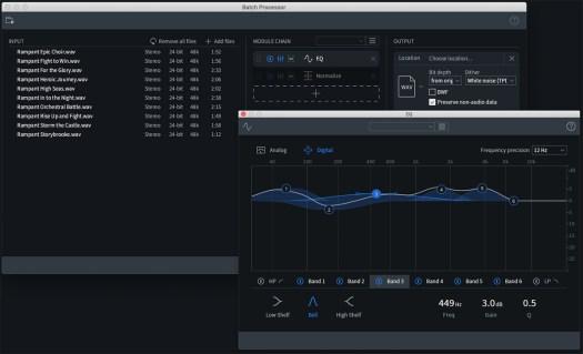 iZotope RX 8 batch processing