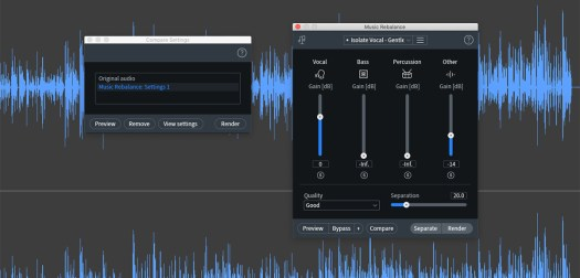iZotope RX 8 music rebalance