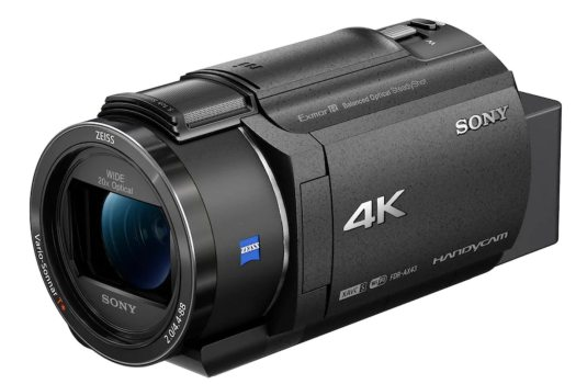 Sony FDR-AX43 a compact 4K Handycam with gimbal inside