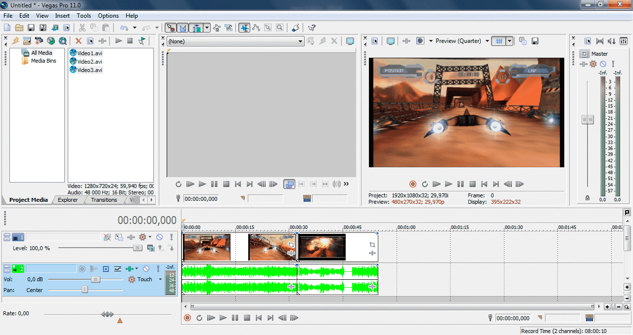 How to save video in Sony Vegas Pro 3