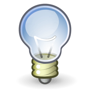 creative video advertising lightbulb icon
