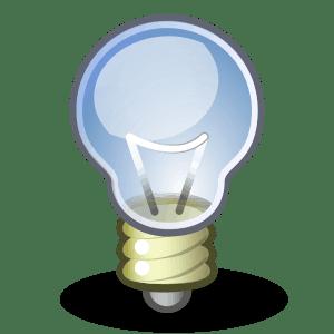 creative video advertising lightbulb icon