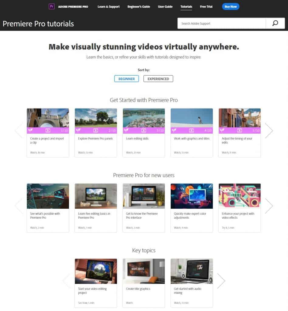 Beginners Training for Adobe Premiere Pro CC 2017