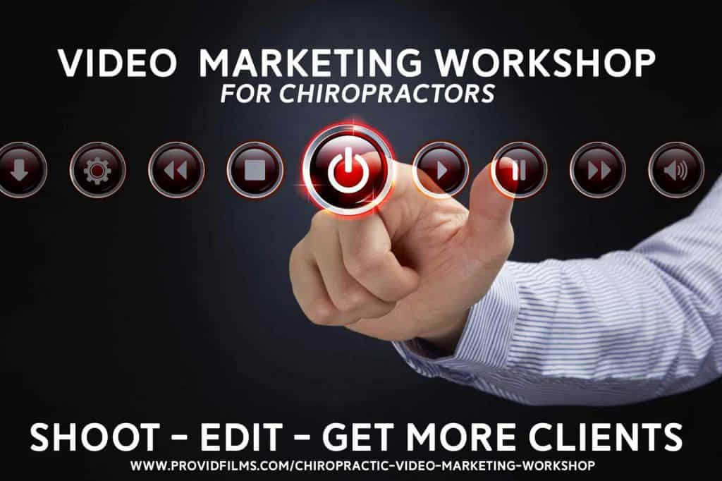 video marketing for chiropractors workshop graphic