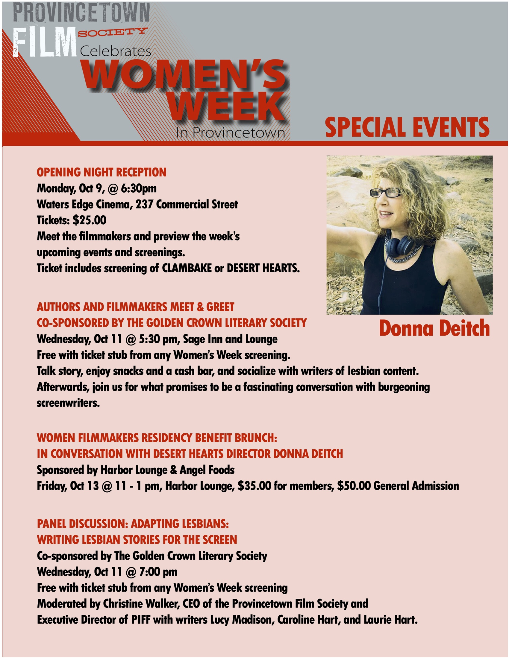 Womens Week Special Events Provincetown Film Festival