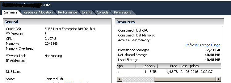 ESXi host issue: VMs doesn't start, Insufficient Resources