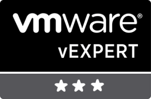 Selected as vExpert 2018 for third year