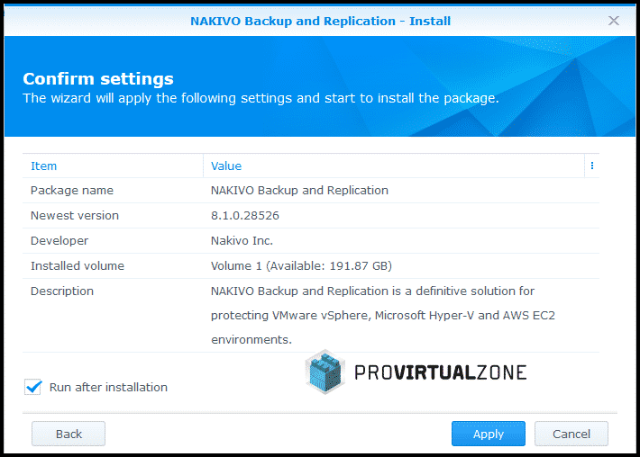How to Install NAKIVO Backup & Replication 8 1 in a Synology NAS