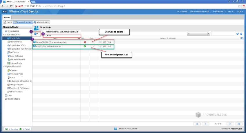 vCloud Director Migrations: Linux vCD external SQL DB to vCD Appliance – Part 2