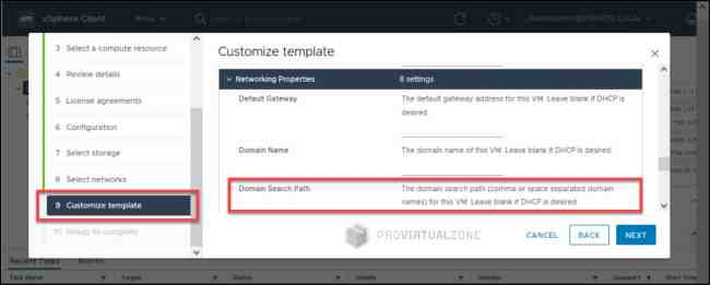 Deploy vCloud Director 10.2.x domain search_path issue