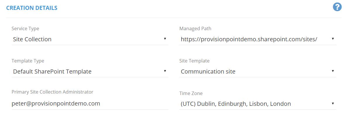 Provisioning SharePoint Communication Sites