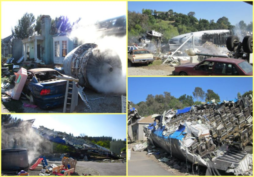 universal studios, appearances, airplane crash