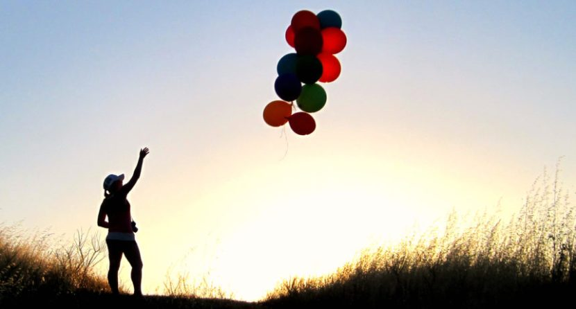 let go, quotes, exist, live, motivation, balloons