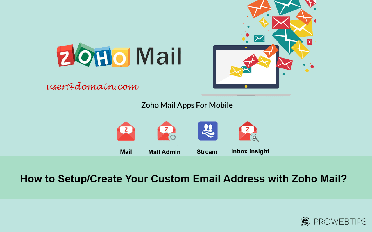 custom email with zoho
