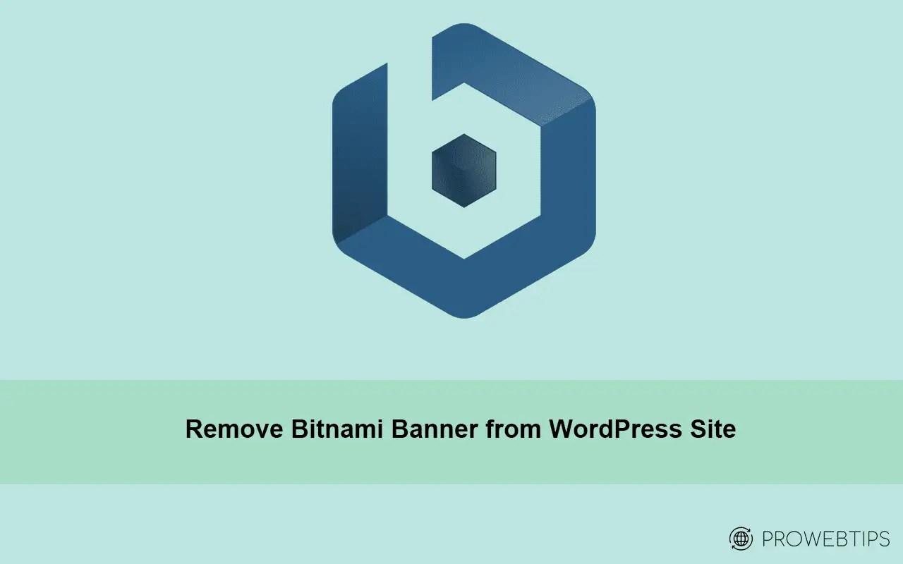 remove bitnami banner