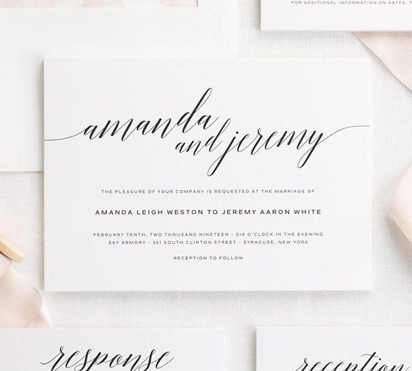 Formal Wedding Invitation Wording That