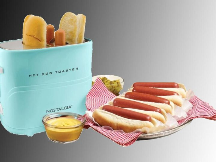 Toast hot dogs and buns together in this $10 relic of a time that never was