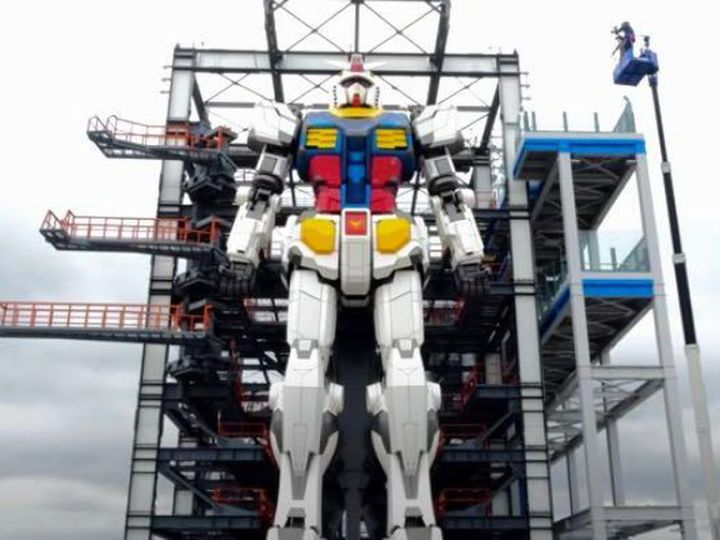 New 55,000-pound Gundam robot in Japan can move its limbs like a boss