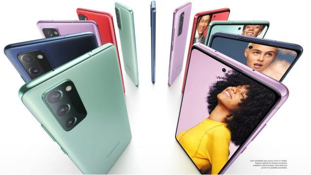 Samsung Galaxy S2 FE 5G color options on the leaked product page
