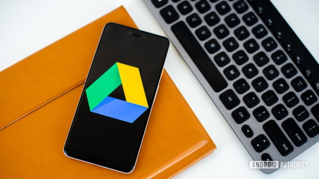 Google Drive logo on smartphone photo 2