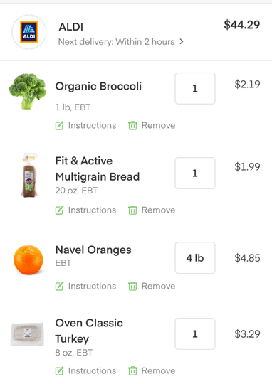 Instacart, in partnership with ALDI, will support SNAP EBT for online groceries – ProWellTech