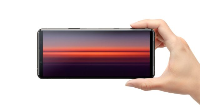 Xperia 5 II in hand that grasps a hand