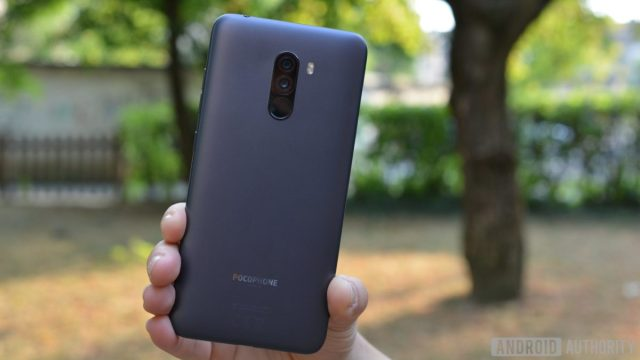 The back of the Pocophone F1.