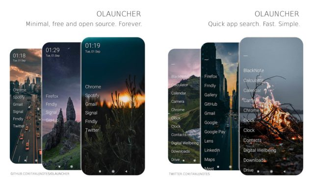 Olauncher screenshot