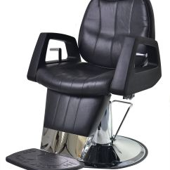 Wholesale Barber Chairs Black Plastic Folding Heavy Duty Reclining Chair