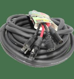 50 ft power cord audio cable iec female to nema 15p balanced xlr m to xlr f [ 2500 x 2500 Pixel ]