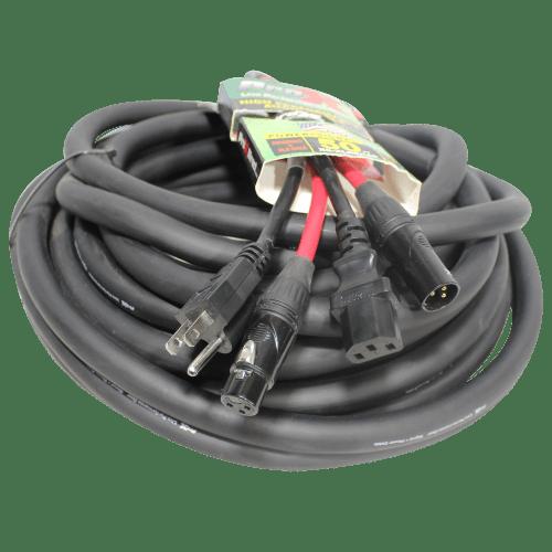 small resolution of 50 ft power cord audio cable iec female to nema 15p balanced xlr m to xlr f