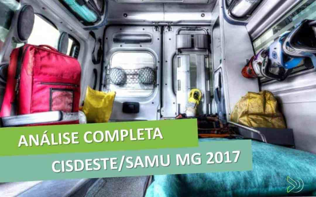 Concurso CISDESTE/SAMU MG 2017 – 499 vagas imediatas [análise do edital]