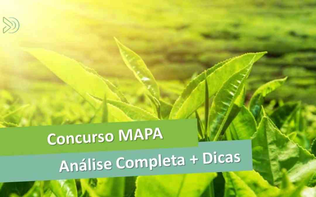 Concurso MAPA 2017 – análise completa [manual do concurso]