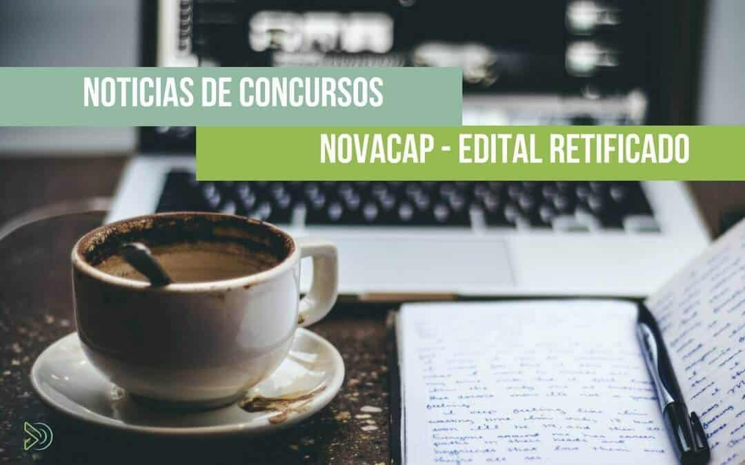 Novacap Concurso – Edital retificado. Confira as alterações!