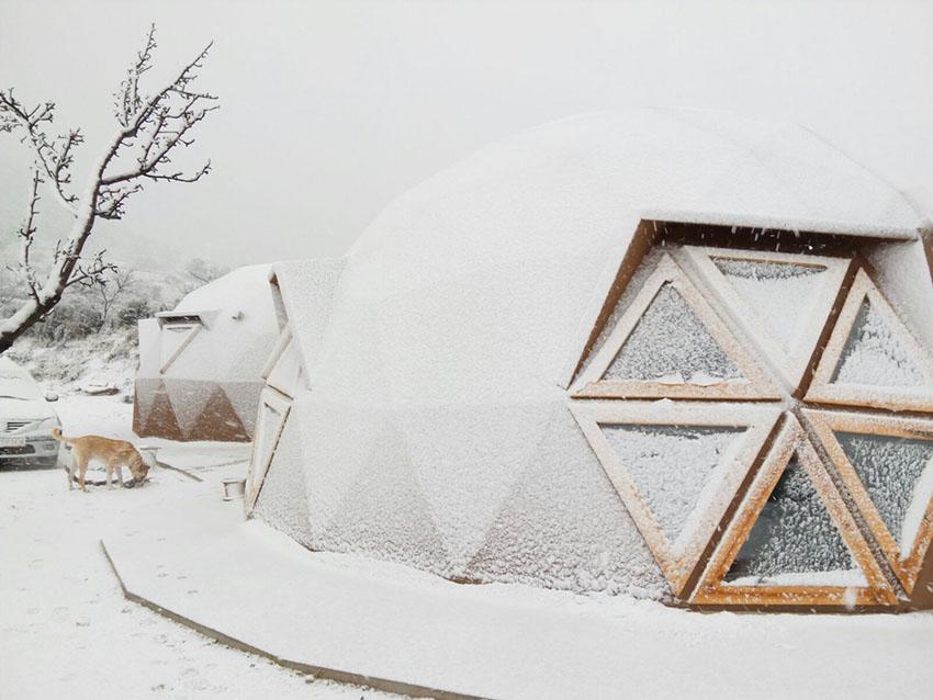 ejemplos de bioconstrucción: vivienda geodésica