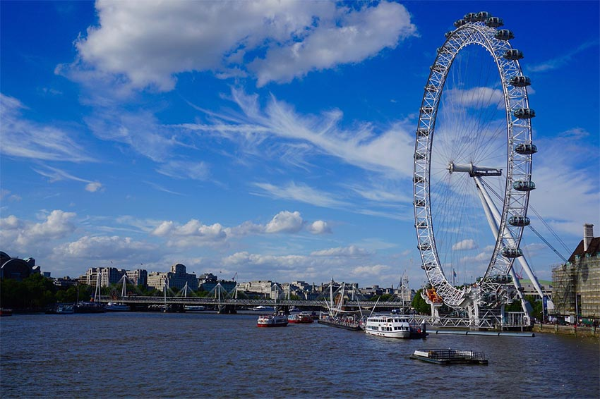 iconos del skyline de Londres: London Eye