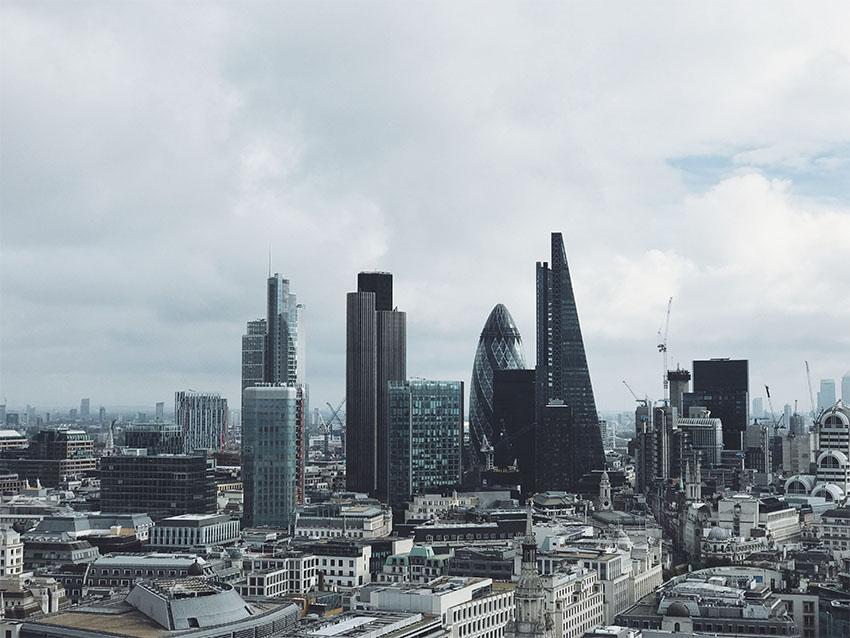 iconos del skyline de Londres: vista de la City